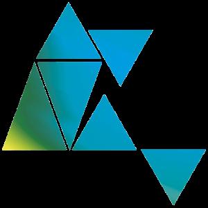 Grafik Dreiecken Geometrie blau grün
