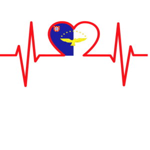 Azoren Flagge im Herz