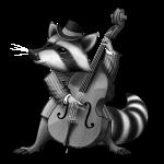 Racoon Musician