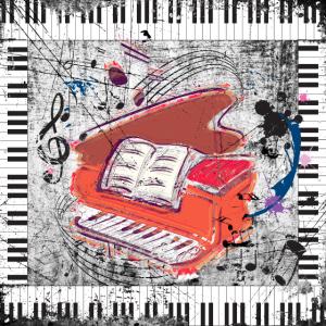 Grunge Klavier - Plakat