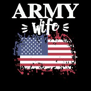 USA Amerikanische Armee Frau Amerikanische Flagge