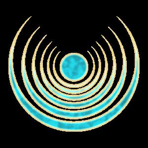 Mond Amulett Kraft der 7 Wicca Glücksbringer Magie