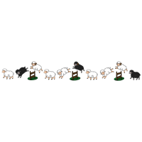 Springende Schafe