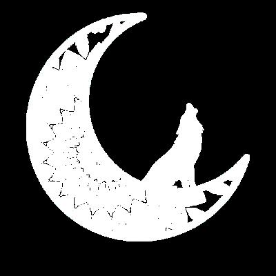 Mandala Mond Geschenk Wolf heulen Spiritualität - Mandala Mond Geschenk Wolf heulen Spiritualität - heulen,Wolf,Spiritualität,Mond,Mandala Mond,Mandala,Halbmond,Geschenk