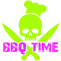 BBQ Time Grillzeit Barbecue Zeit Grillparty Skull