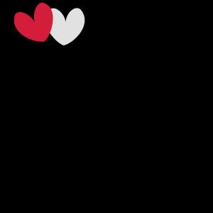 2 Herzen Herz Rahmen