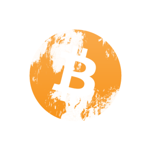 Bitcoin Coin Kryptowährung (Distressed-Look)