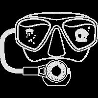 Tauchermaske + irrer Okto