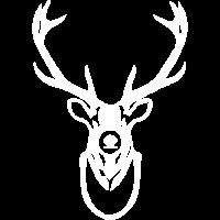 Hirschkopf Vintage Shirt Jagd-Design Geschenk Idee