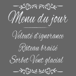 Menu du jour (Halte à la drague lourde!)