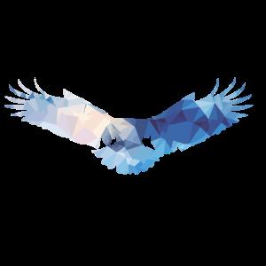 Fliegende Blaue Adler gemustert Geschenk
