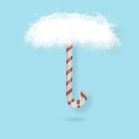 zuckerstange mit wolken