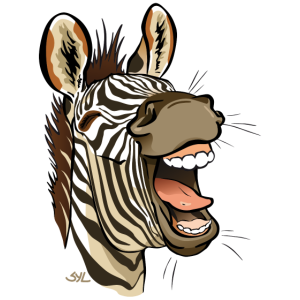 Zebra lachen