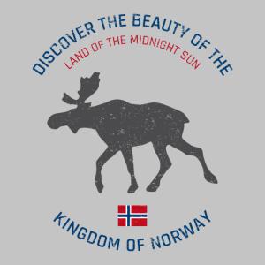Norwegen vintage button (Poster)