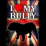 I love my English Bully mit Flagge