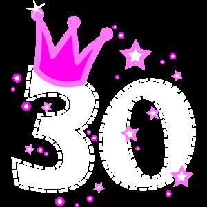 30 30. Geburtstag mit Krone