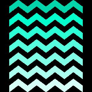 Wellen Zacken blau grün Minimalismus Muster