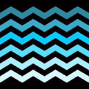 blau Wellen Zacken Muster Farbe Minimalismus