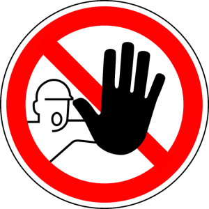 Stop kein Zutrit