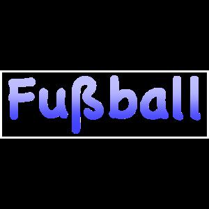 Fußball ; Fussballschriftzug Kasten ; Farbverlauf