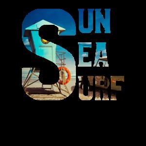 Sun Sea Surf Shirt Sommer Vibe T-Shirt