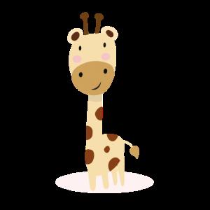 Baby Giraffe - süßes Motiv mit rosa Wangen