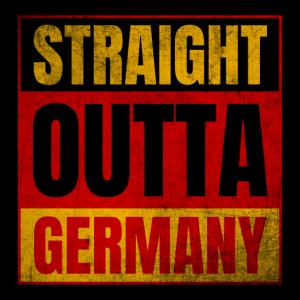 Straight Outta Germany Logo Vintage