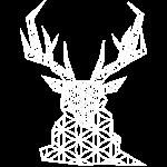 cerf géométrique blanc
