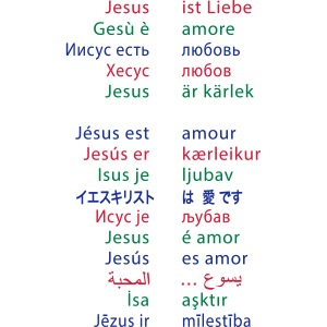 Jesus ist Liebe – in 15 Sprachen