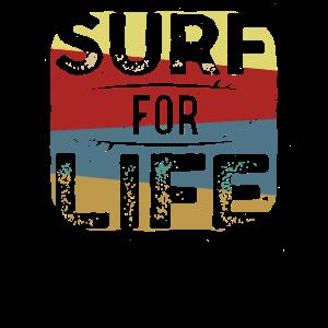 Surf for Life Shirt Surfer Shirts