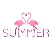 Summer Flamingo 80s Design