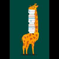 Giraffe With Books