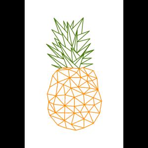 Pineapple Geometric Style