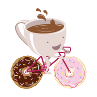 Coffee Cup Donuts Bicycle