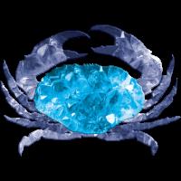 Sternzeichen Krebs mit Kristall Panzerung Krabbe