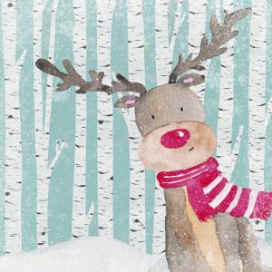 Wald Freunde im Winterwald - Der neugierige Elch