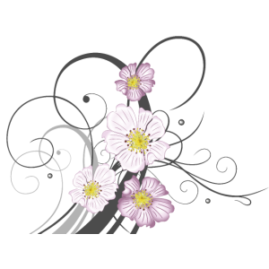 Ranke mit Wildrosen und Blüten. Sommer.