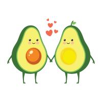 Avocado Love Couple