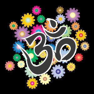 "Om Aum Mantra Symbol ""Flowers"""