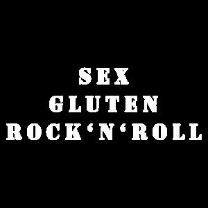 SEX. GLUTEN. ROCK'N'ROLL. (weiß)