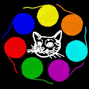 Katze Wolle