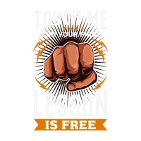 Touch Me And Your First Lesson Is Free - Warnung
