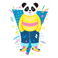 80er Jahre Panda
