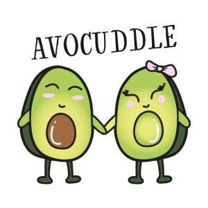 Avocuddle - Cool Avocado Love Couple