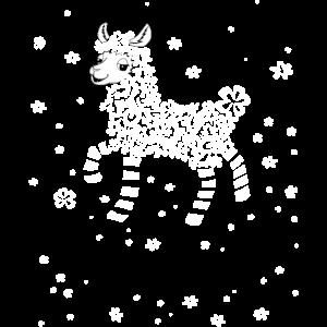 Lustiges Lama aus Blumen