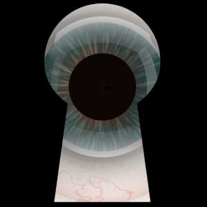 Das Auge im Schlüsselloch