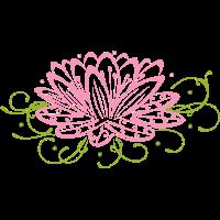 Große Lotusblüte mit filigranen Verzierungen.