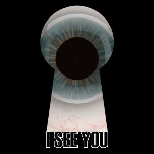 Auge Schlüsselloch, ich sehe dich