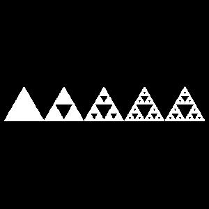 Mathe Sierpinski Dreieck Fraktal Geometrie Zeichen