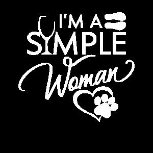I'm a simple Woman - Love Wine Flip Flops Pets